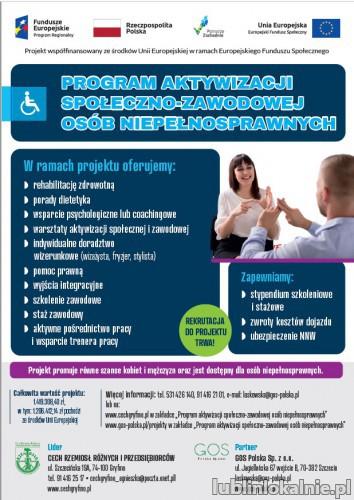 Bezpłatny projekt unijny dla osób niepełnosprawnych